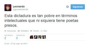 Segundo tweet de Leonardo