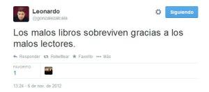 tercer tweet de Leo